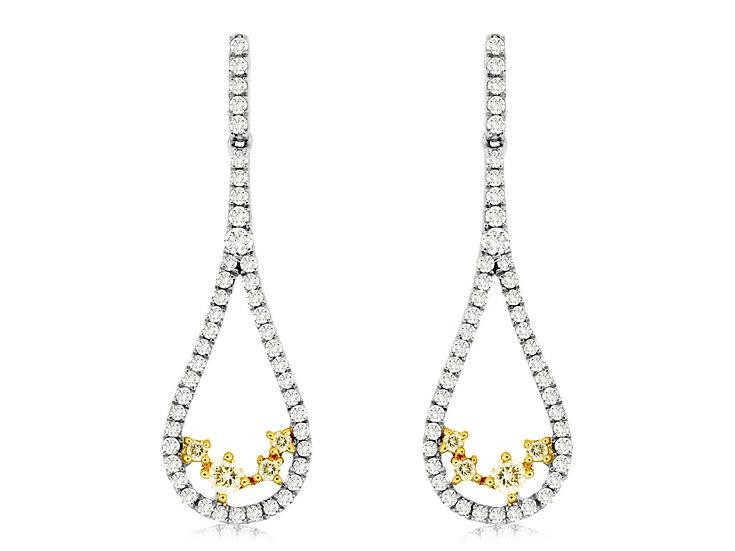 DIAMOND & YELLOW DIA EARRING WC7548Y