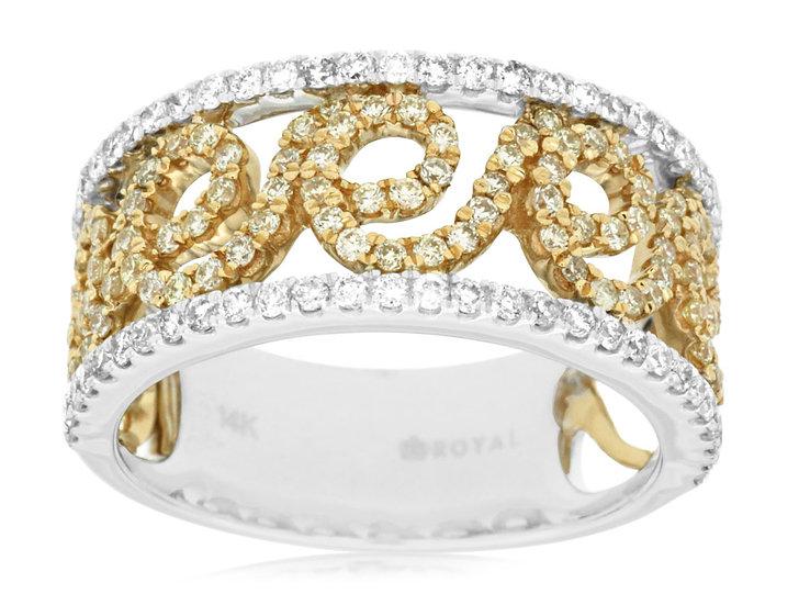 DIAMOND & YELLOW DIAMOND RING WC7571Y