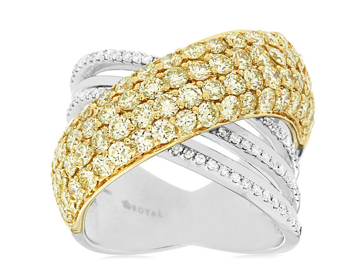 DIAMOND & YELLOW DIAMOND RING WC7270Y