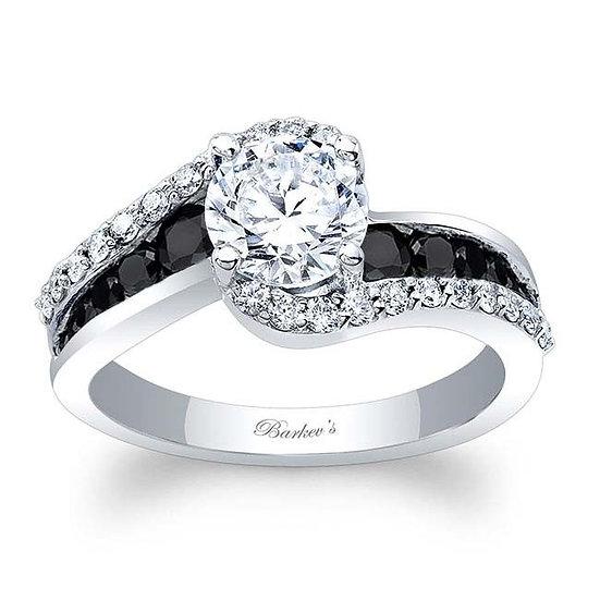 8017LBK BLACK DIAMOND ENGAGEMENT RING
