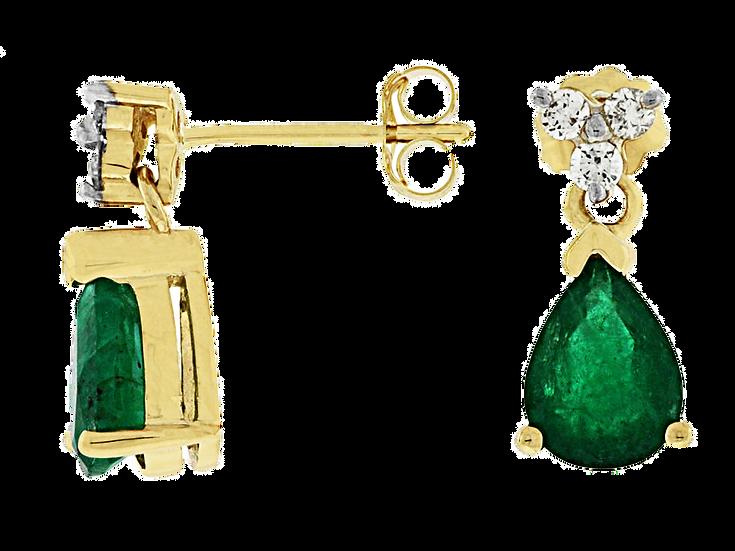 DIAMOND & EMERALD EARRING E3376EM