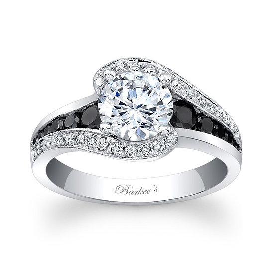 7898LBK BLACK DIAMOND MODERN ENGAGEMENT RING