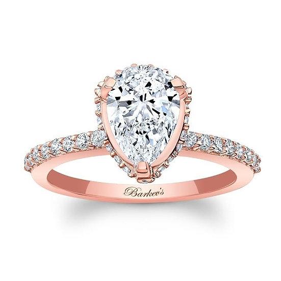8160LP ROSE GOLD PEAR SHAPE DIAMOND ENGAGEMENT RING