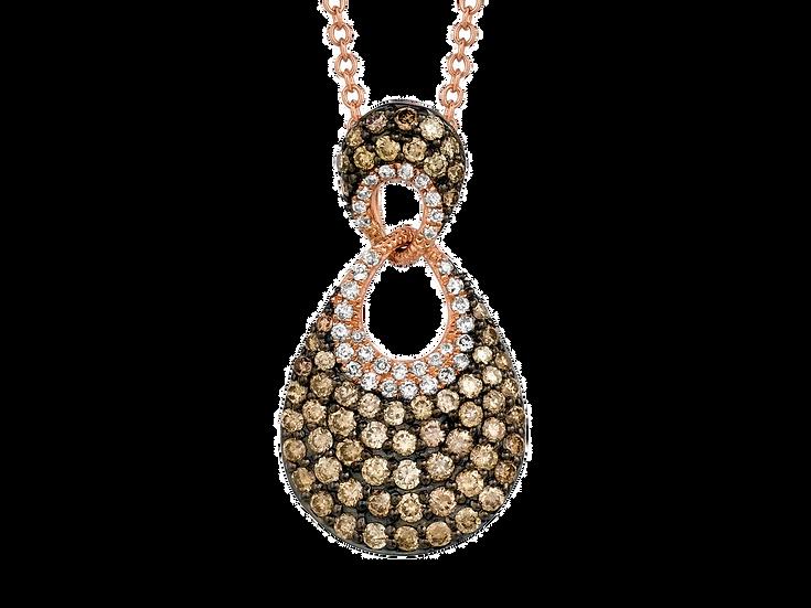 DIAMOND & MOCHA DIAMOND PENDANT PC5995V