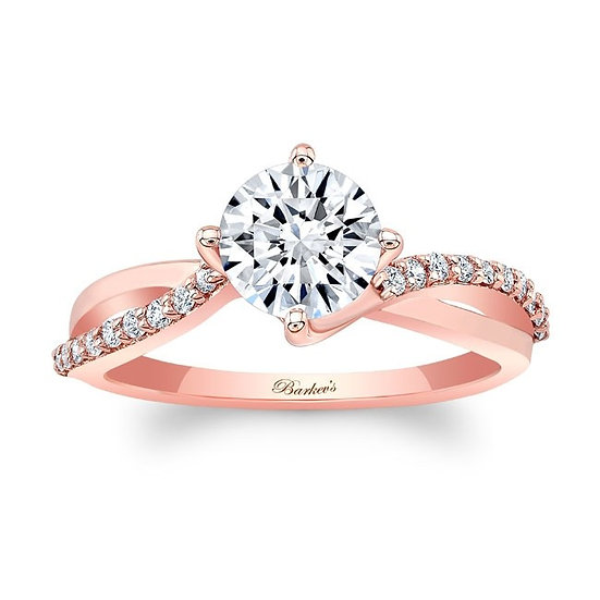 8077LP ROSE GOLD ENGAGEMENT RING