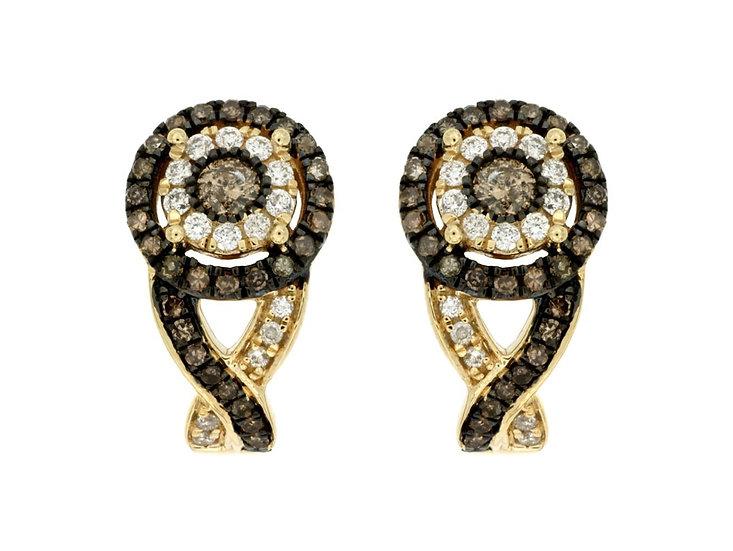 DIAMOND & MOCHA DIAMOND EARRING C6289V
