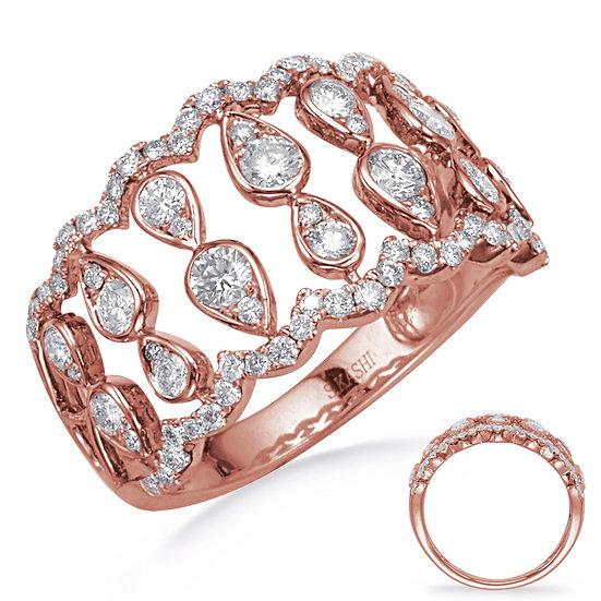 0.88 ctw. ROSE GOLD DIAMOND FASHION RING