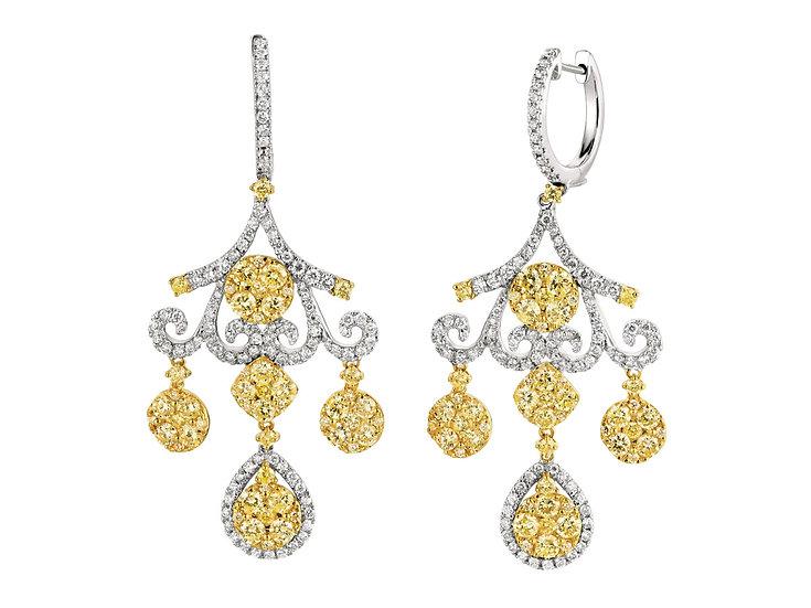 DIAMOND & YELLOW DIA EARRING WC6605Y
