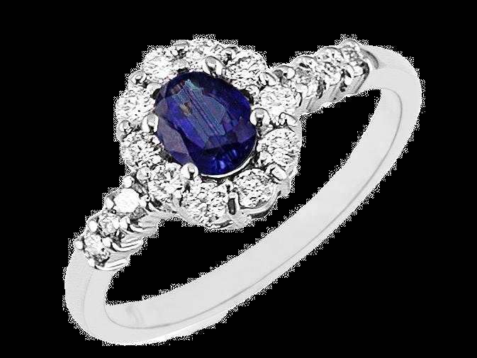 DIAMOND & SAPPHIRE RING W3789SP