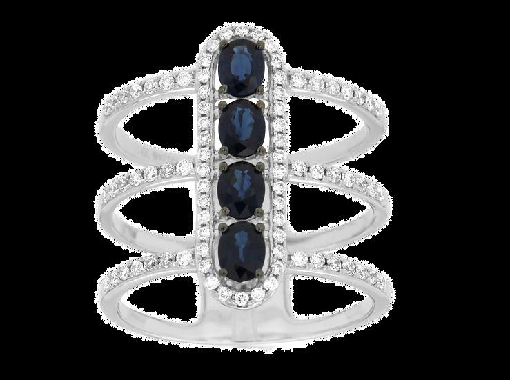 DIAMOND & SAPPHIRE RING WC7723S