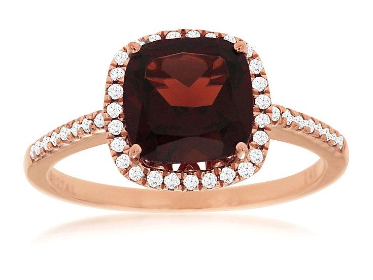 GARNET & DIAMOND RING PC5626G