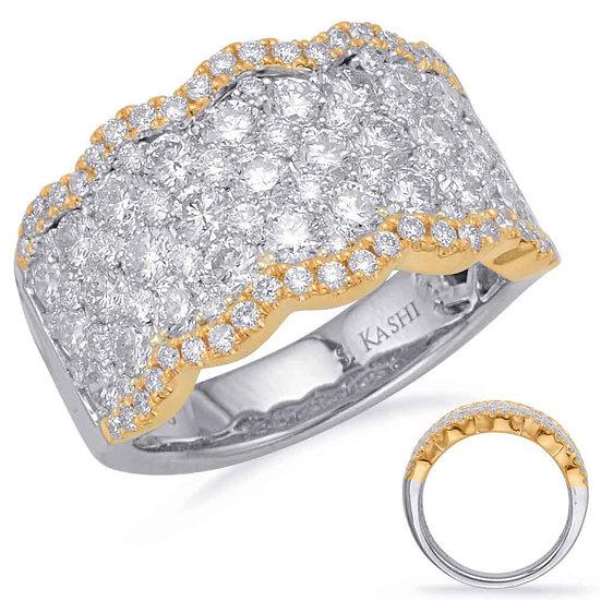 2.64 ctw. YELLOW & WHITE GOLD DIAMOND FASHION RING