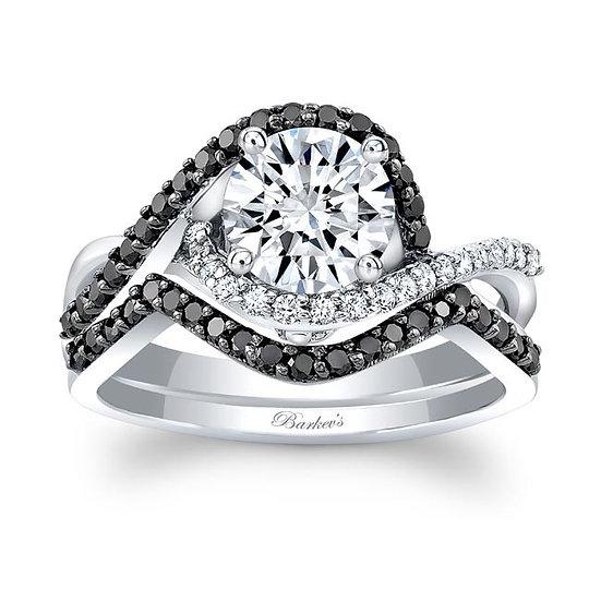 8167SBK BLACK DIAMOND BRIDAL SET