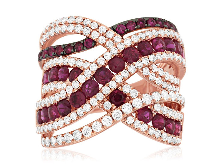 DIAMOND & RUBY RING PC7538R