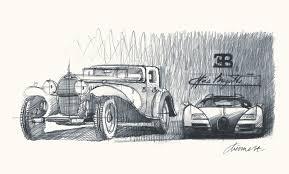 Carro de Cena - Bugatti Sketch´s