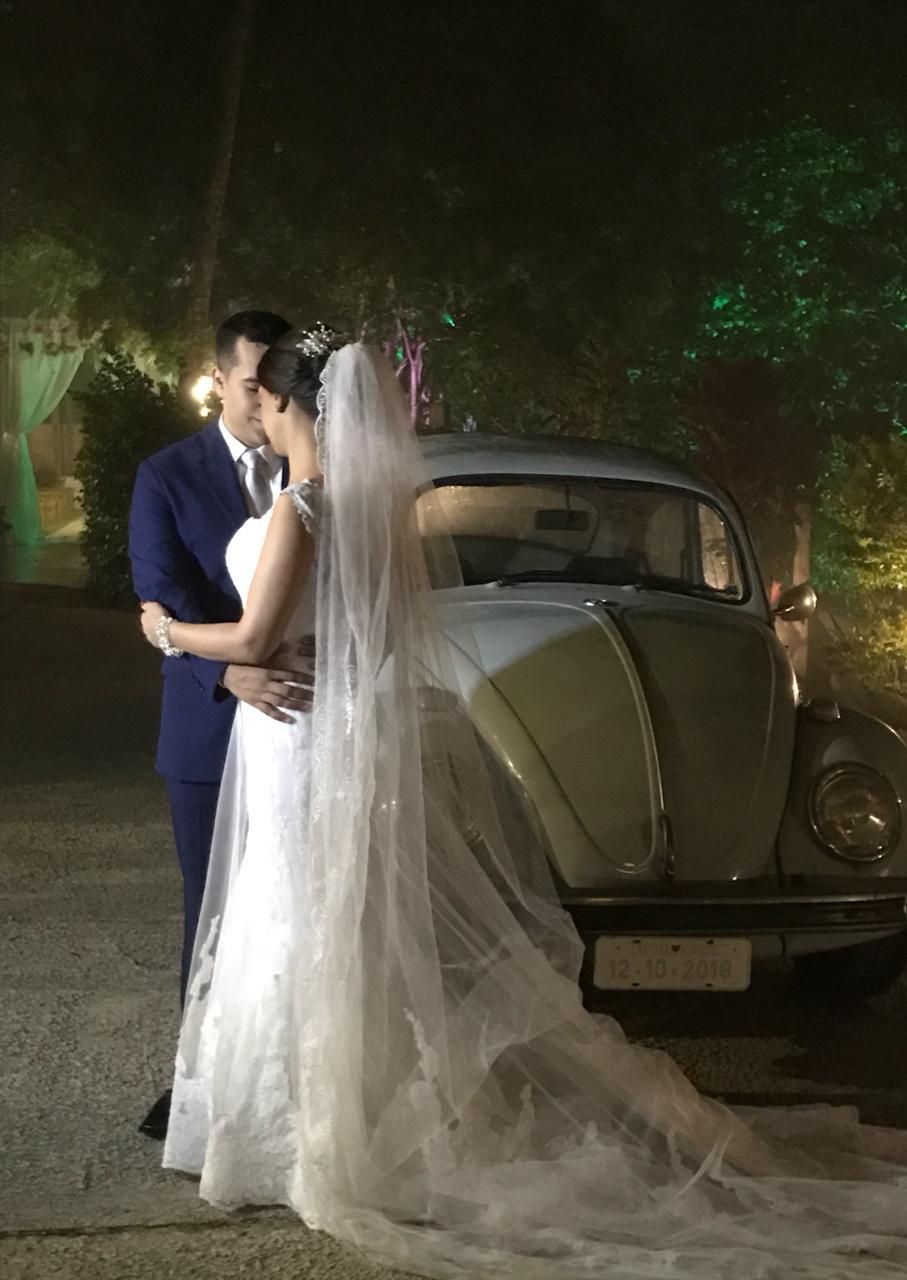 Fusca Azul para casamento