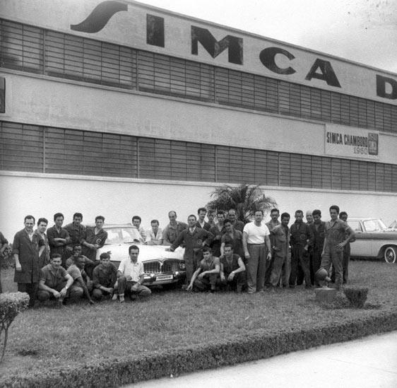 Fábrica Simca - Carro de Cena