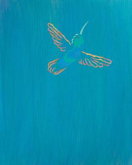 """""""Hummingbird on Blue"""""""