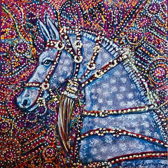 """Blue Wedding Horse"""