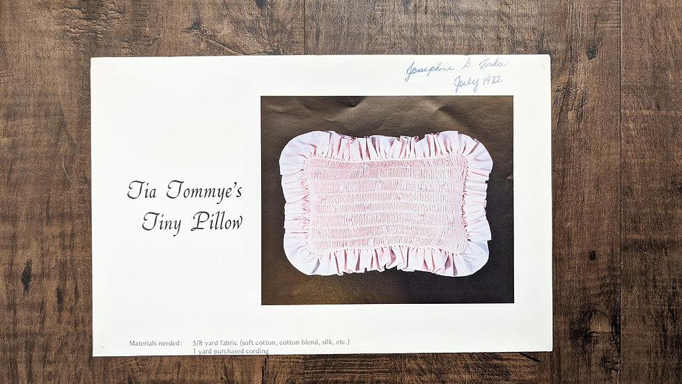 "Tommy Duncan ""Tia Tommye's Tiny Pillow"""