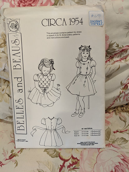 Belles and Beaus Circa 1954 Dress pattern