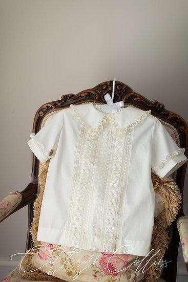 Ivory Overshirt with Vintage Beading (Size 5)