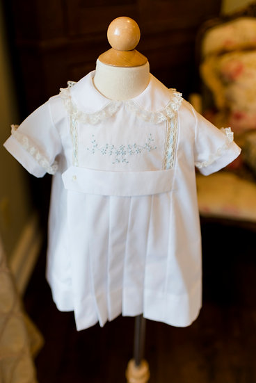 The Overton Apron with Embroidered Center Panel ~~ $325