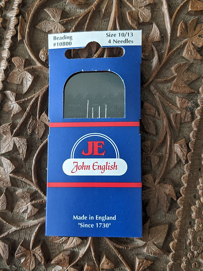 John English Hand Sewing Beading Size 10/13 Needles