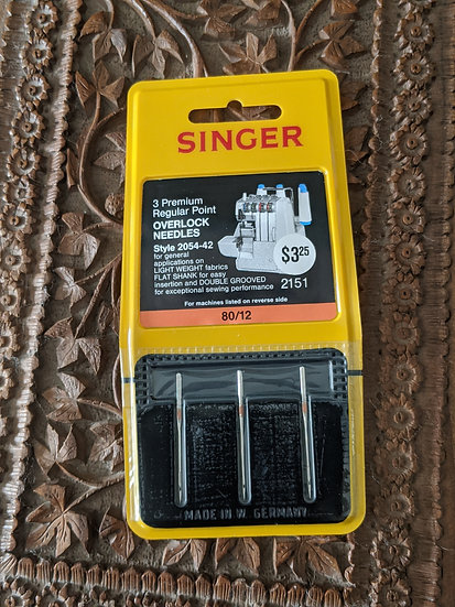 Singer Premium Regular Point Overlock  80/12 Needles