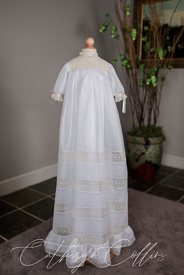 The Avery Christening Gown with Pin Tucks