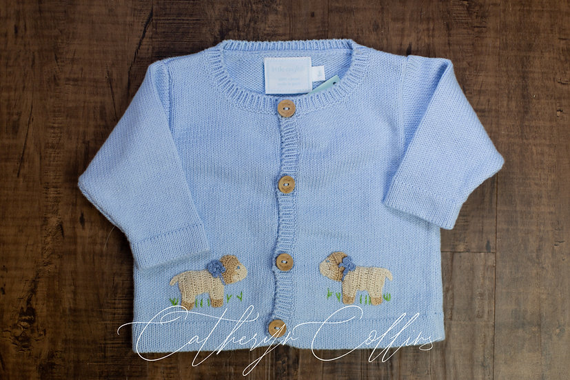 Little English Blue Sheep Sweater
