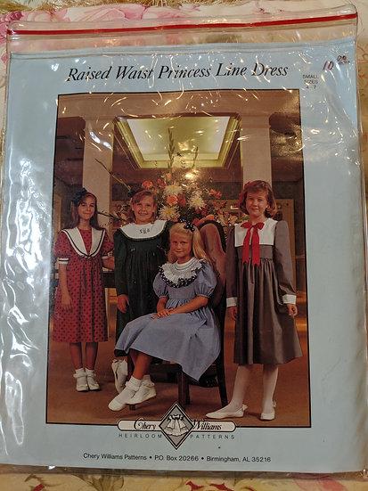 "Chery Williams ""Raised Waist Princess Line Dress"" pattern"
