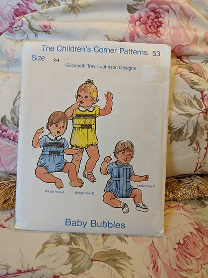 "Children's Corner ""Baby Bubbles"" pattern"