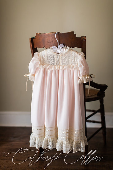 Swiss Voile Heirloom Dress with French Maline Laces
