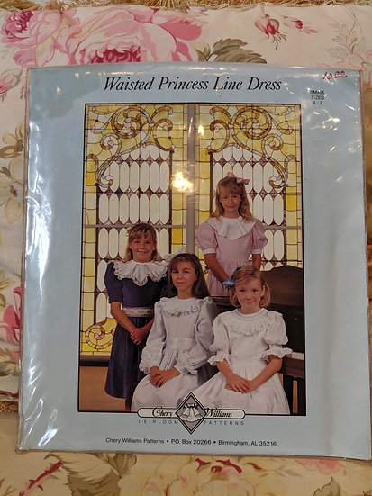 "Chery Williams ""Waisted Princess Line Dress"" pattern"