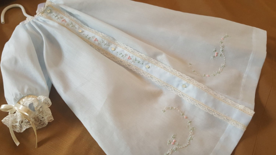 Front Opening Day Gown (Embroidery #6)