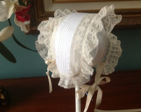 T-cap Bonnet with Pin Tucks
