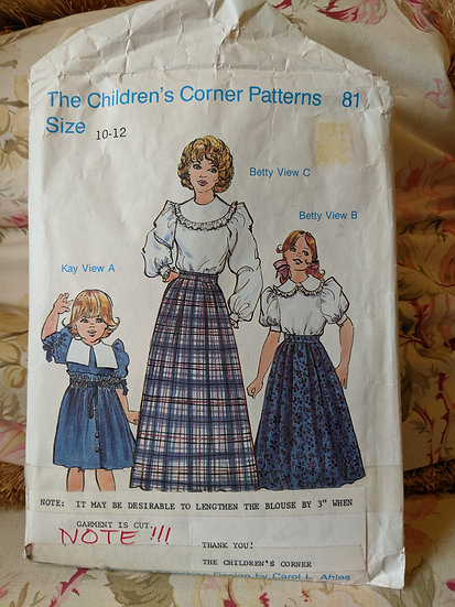 "Children's Corner ""Skirts and Blouses"" pattern"