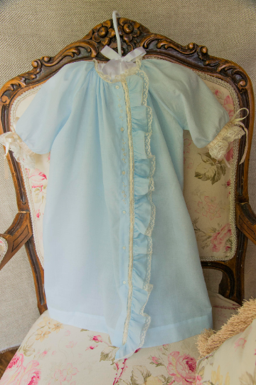 Day Gown with Fabric Placket Ruffle (Style #2)