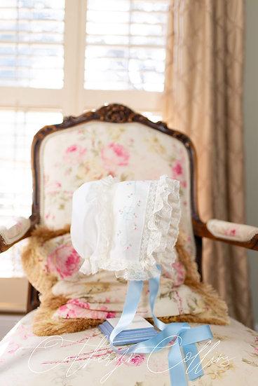 Lottie Featherstitched Bow Bonnet ~~ $190