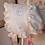 Thumbnail: Embroidered Bonnet with Drawstring Back