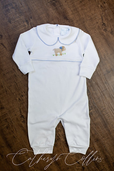 Little English Blue Sheep Playsuit