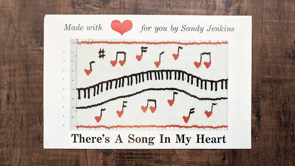 "Sandy Jenkins ""There's A Song In My Heart"""