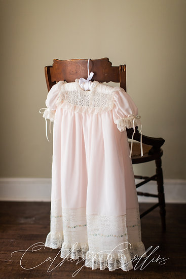 Swiss Voile Heirloom Dress with Handloom