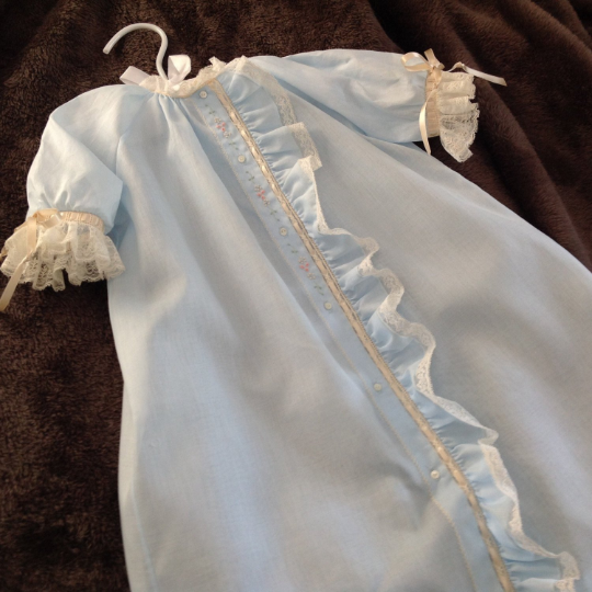 Day Gown with Fabric Placket Ruffle (Style #3)