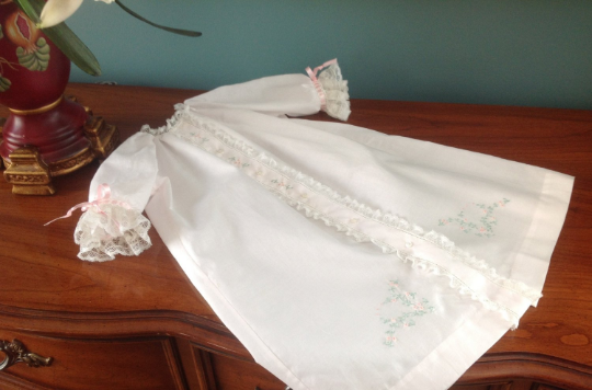Front Opening Day Gown (Embroidery #4)