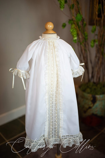 Lace Paneled Day Gown