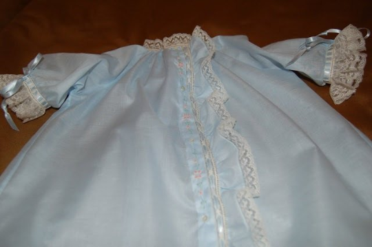 Day Gown with Fabric Placket Ruffle (Style #4)