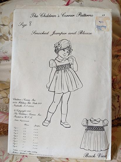 "Children's Corner ""Smocked Jumper and Blouse"" pattern"