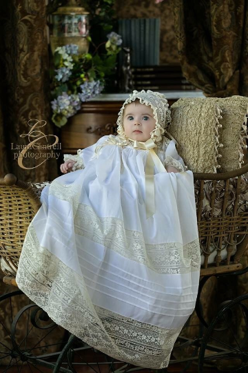The Leah Christening Gown ~~ $625
